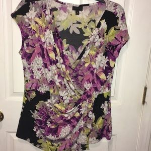 Black and floral top